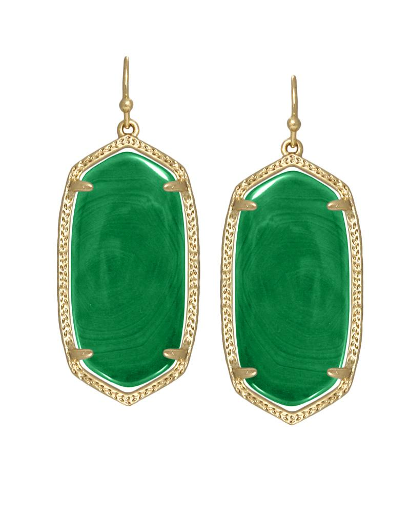 Elle Earrings In Green Agate