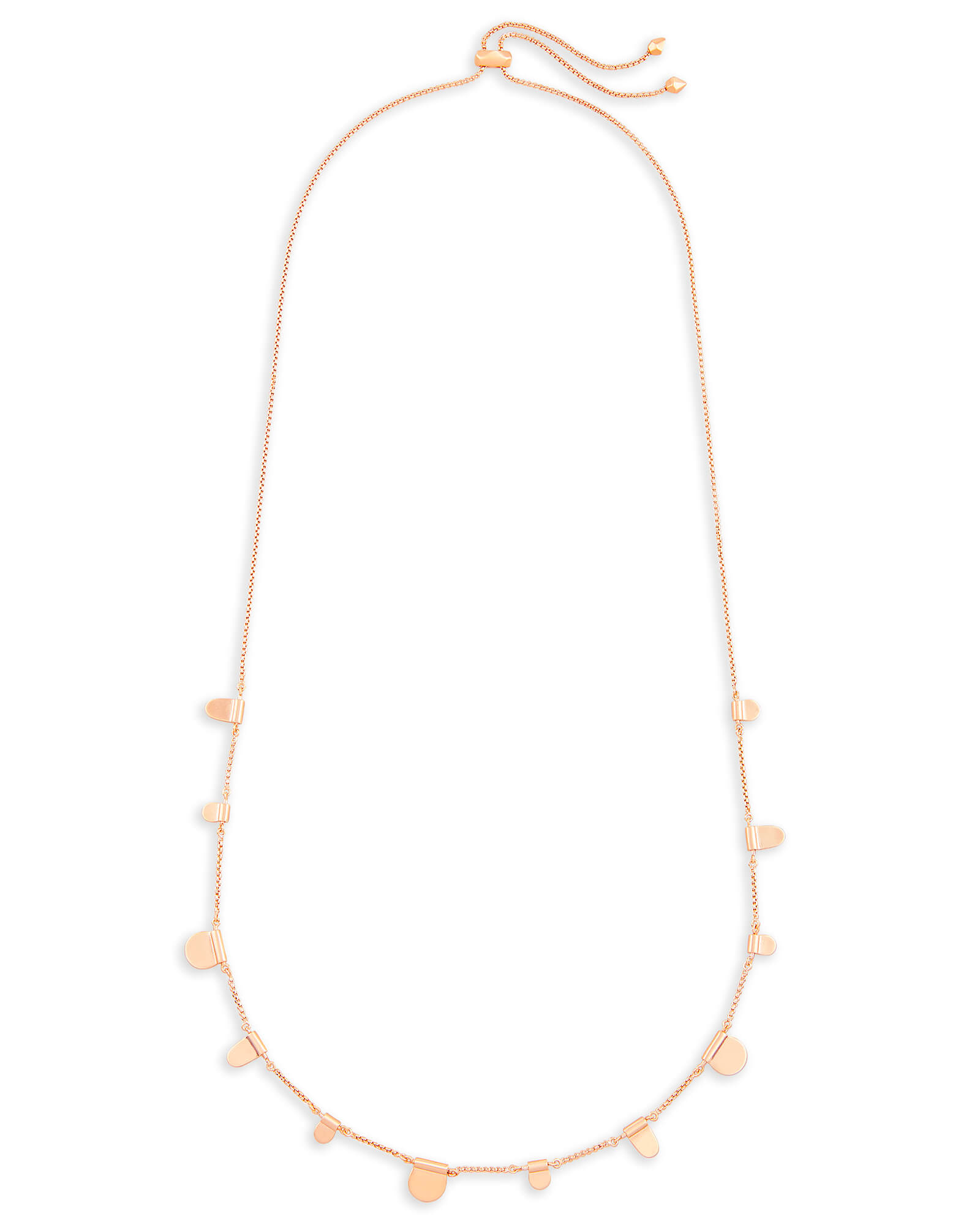 Olive Long Necklace in Rose Gold