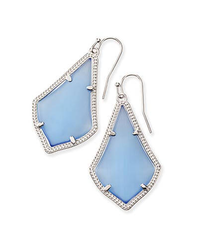 Alex Silver Earrings in Periwinkle Cat's Eye