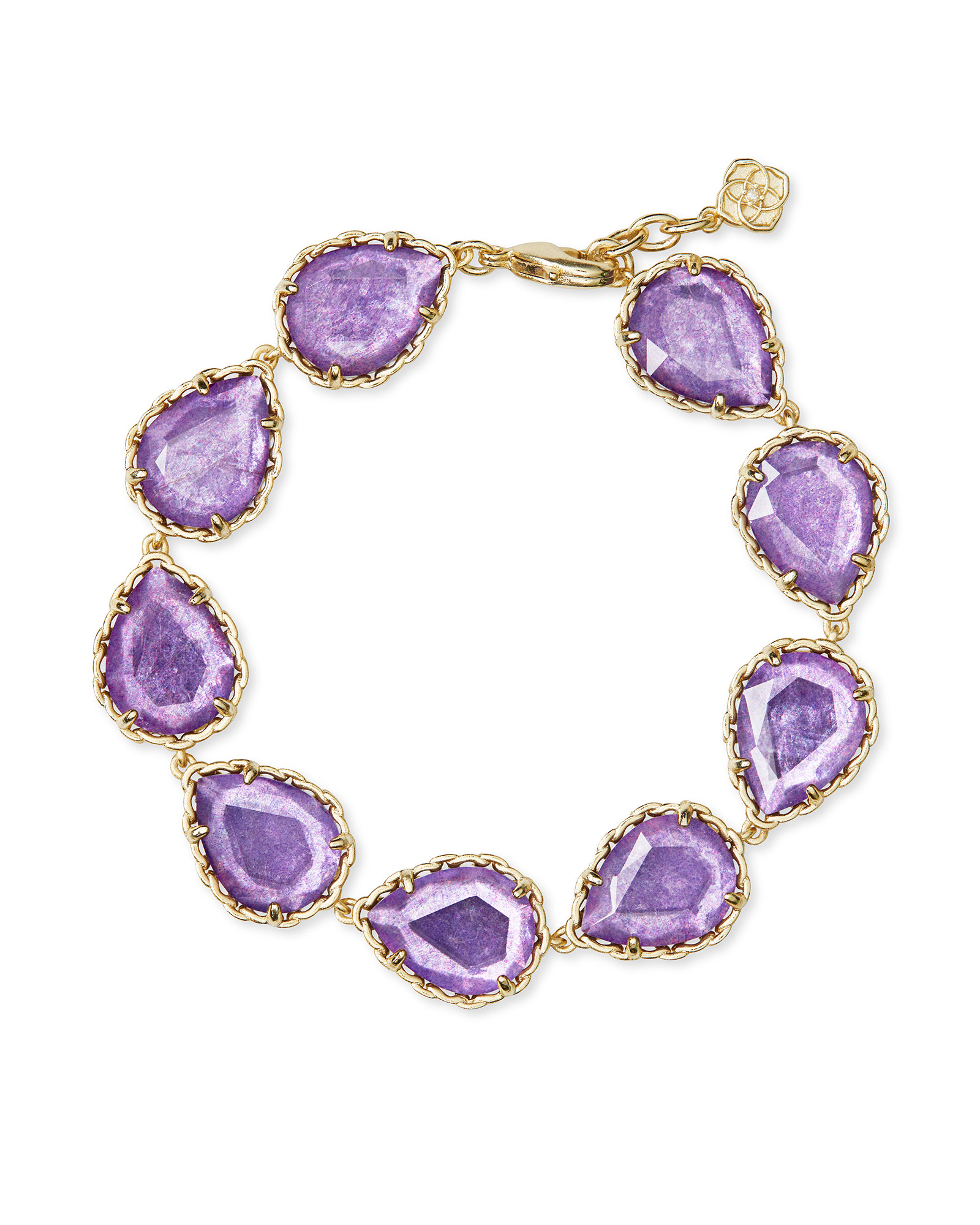 Kenzie Gold Link Bracelet In Purple Mica