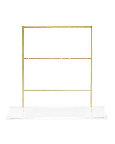 Earring Ladder Jewelry Stand in Antique Brass