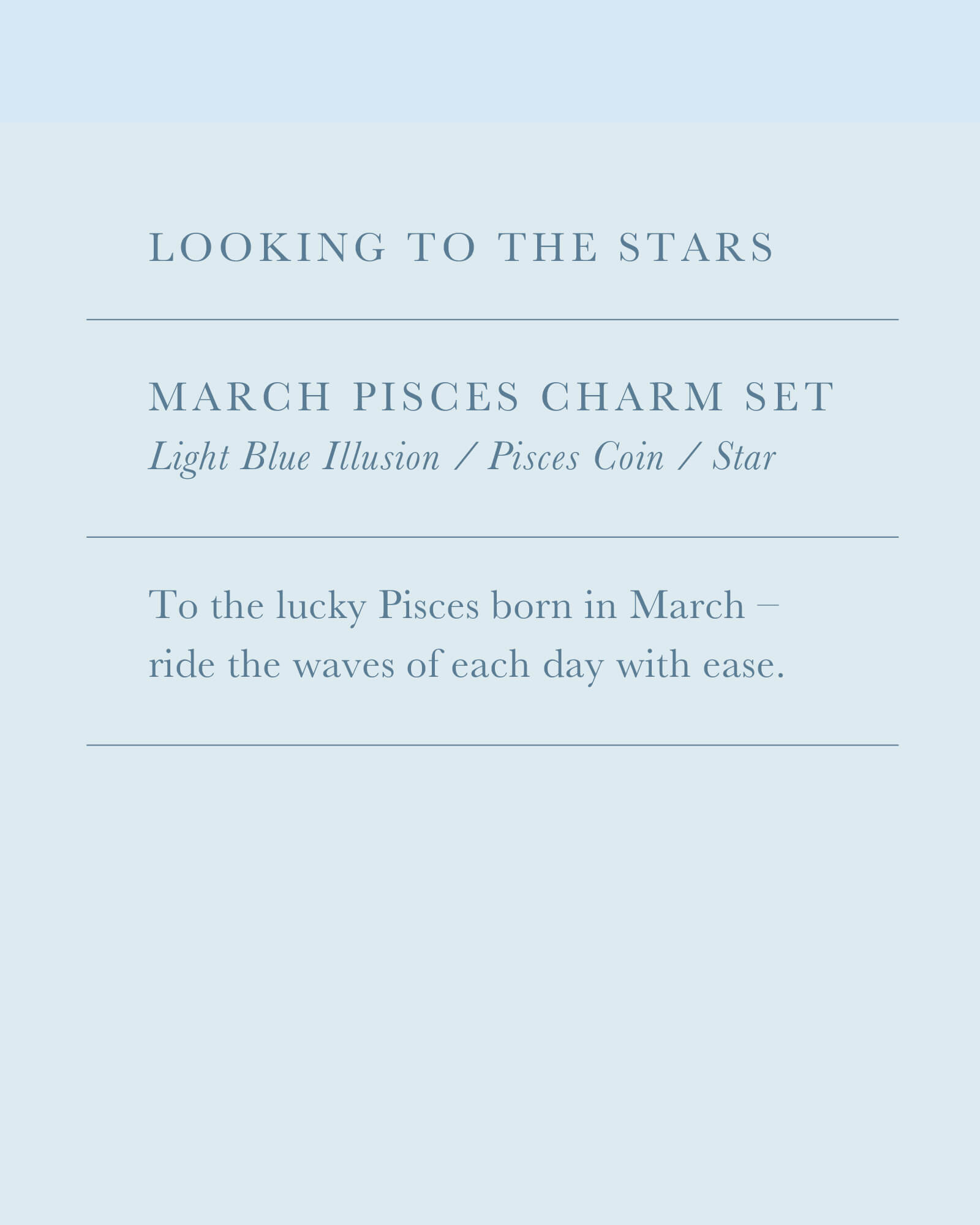 March Pisces Charm Necklace Set in Silver