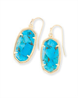 Dani Drop Earrings in Bronze Veined Turquoise