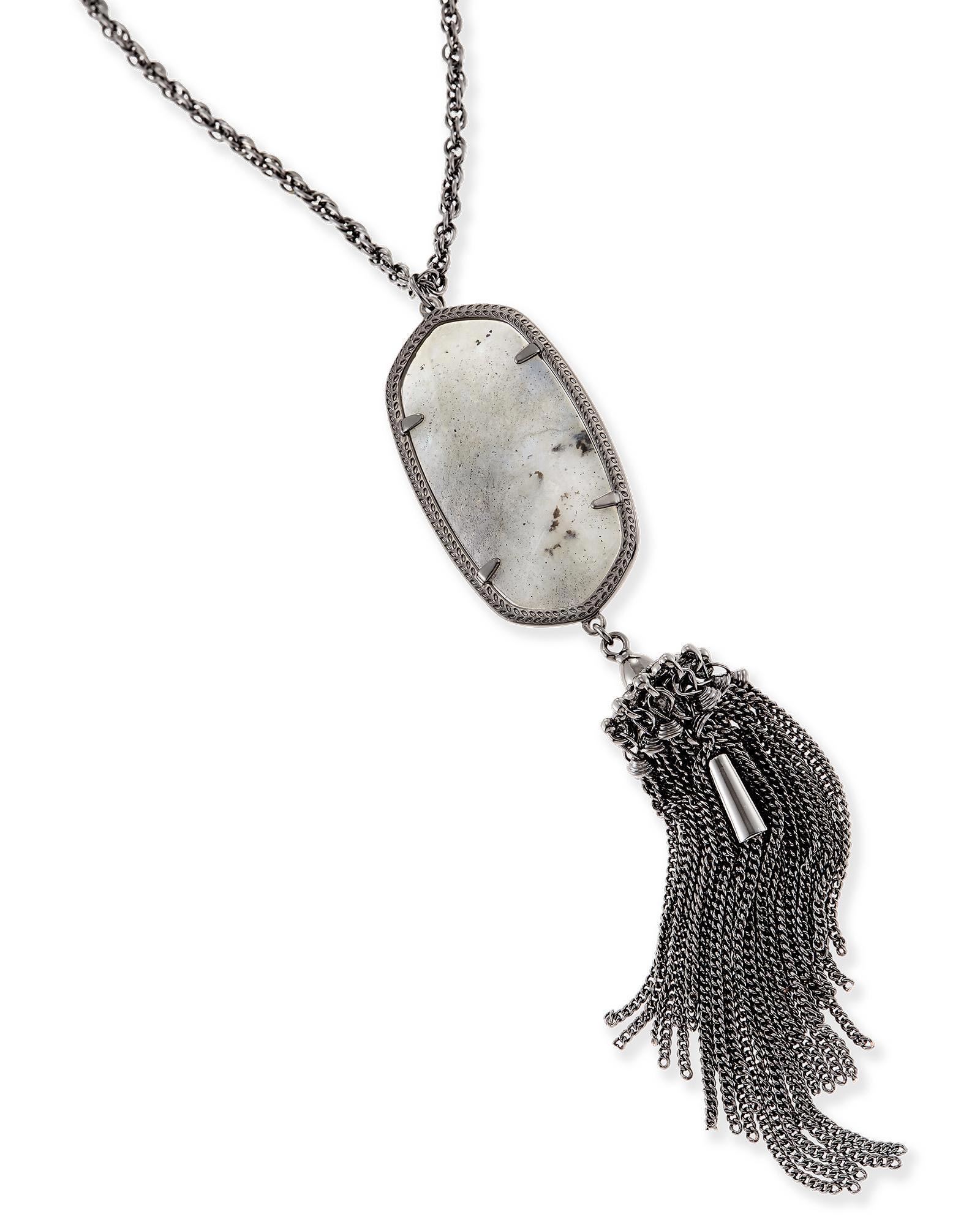 Rayne Long Necklace in Labradorite