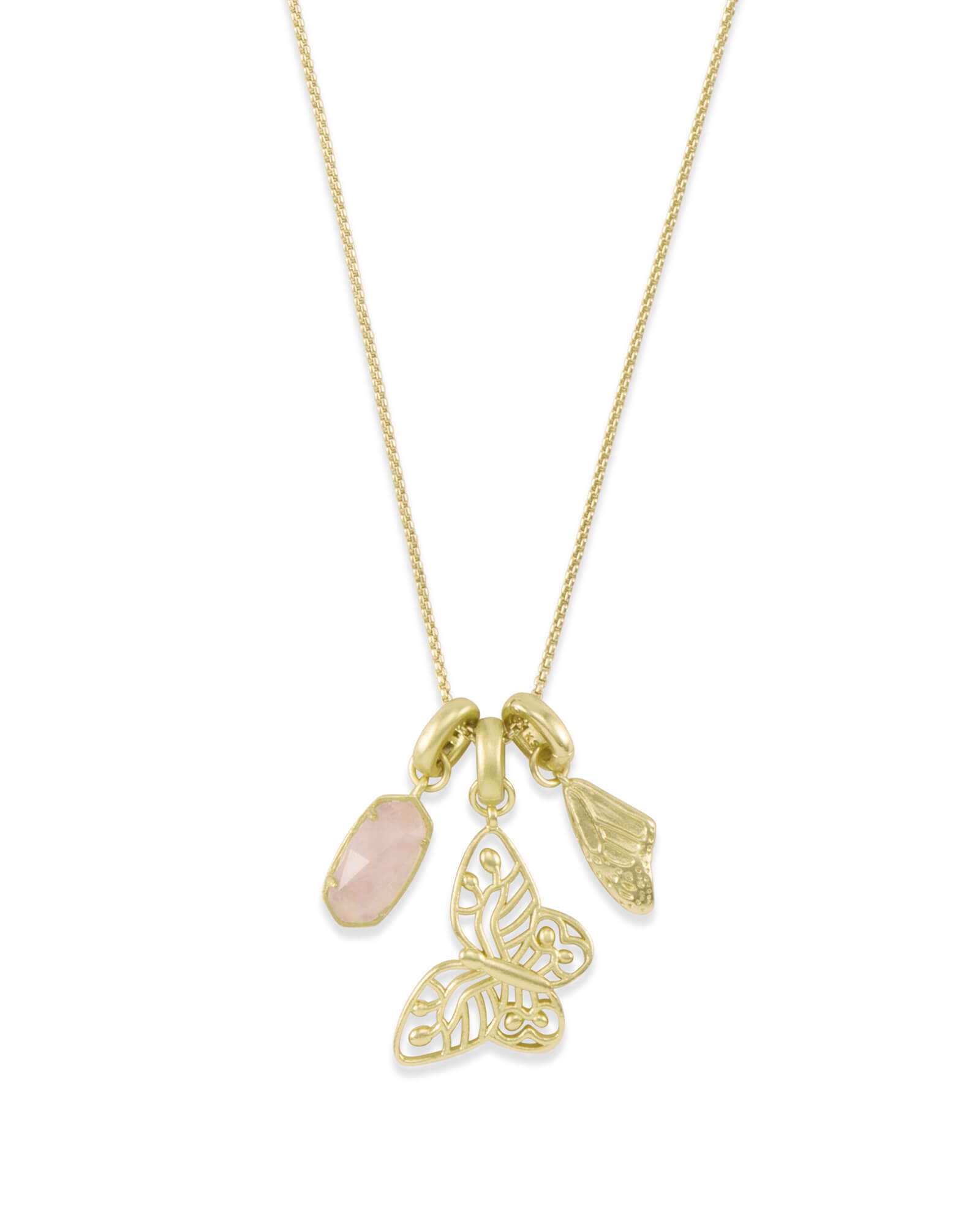 Metastatic Breast Cancer Necklace Charm Set in Gold