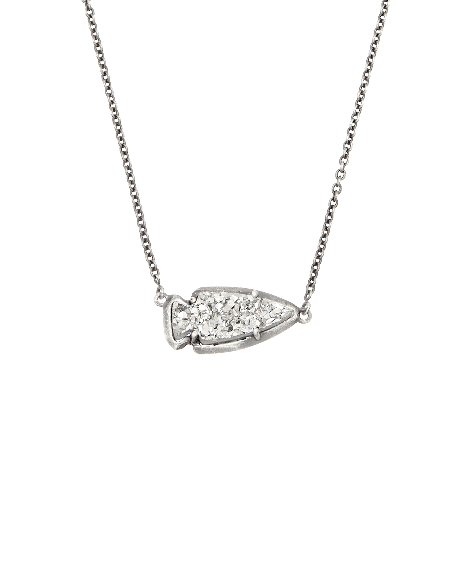 Kasey arrowhead pendant necklace in silver kendra scott kasey pendant necklace in platinum drusy mozeypictures Gallery