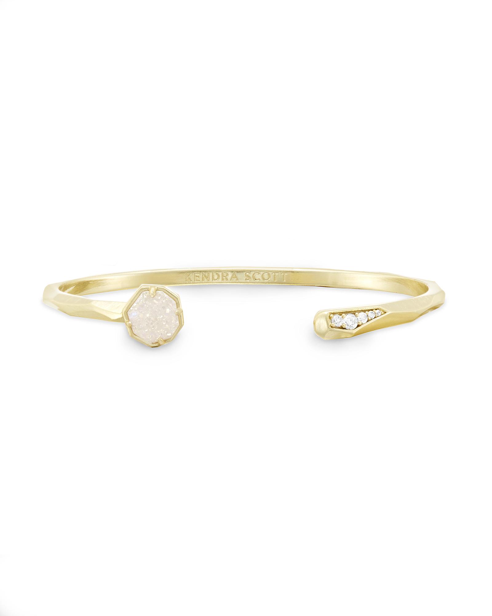 Ashlee Pinch Bracelet In Iridescent Drusy by Kendra Scott
