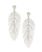 Lotus Statement Earrings in Silver