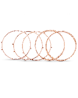Tatum Bangle Bracelet Set in Rose Gold