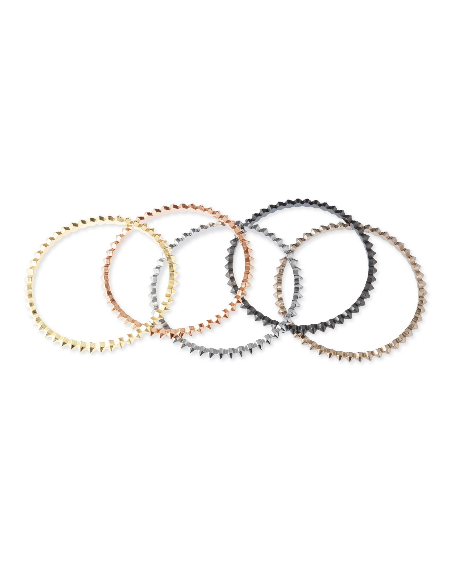 Remy Bangle Bracelets in Mixed Metals