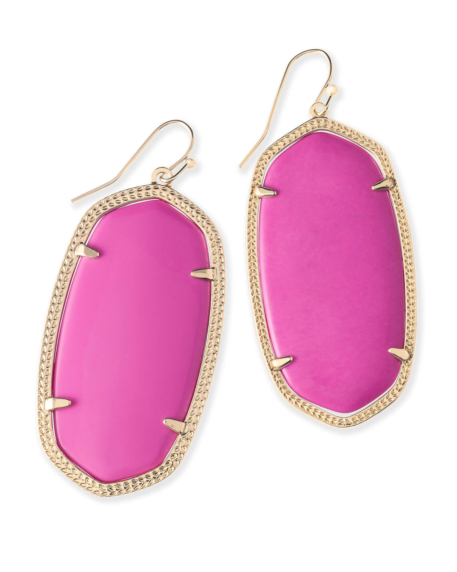 Danielle Statement Earrings in Magenta