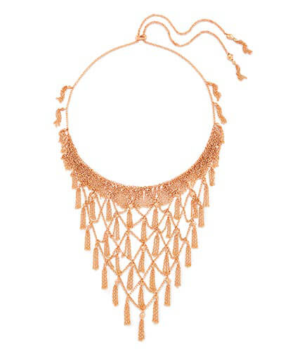 Georgina Statement Necklace in Rose Gold