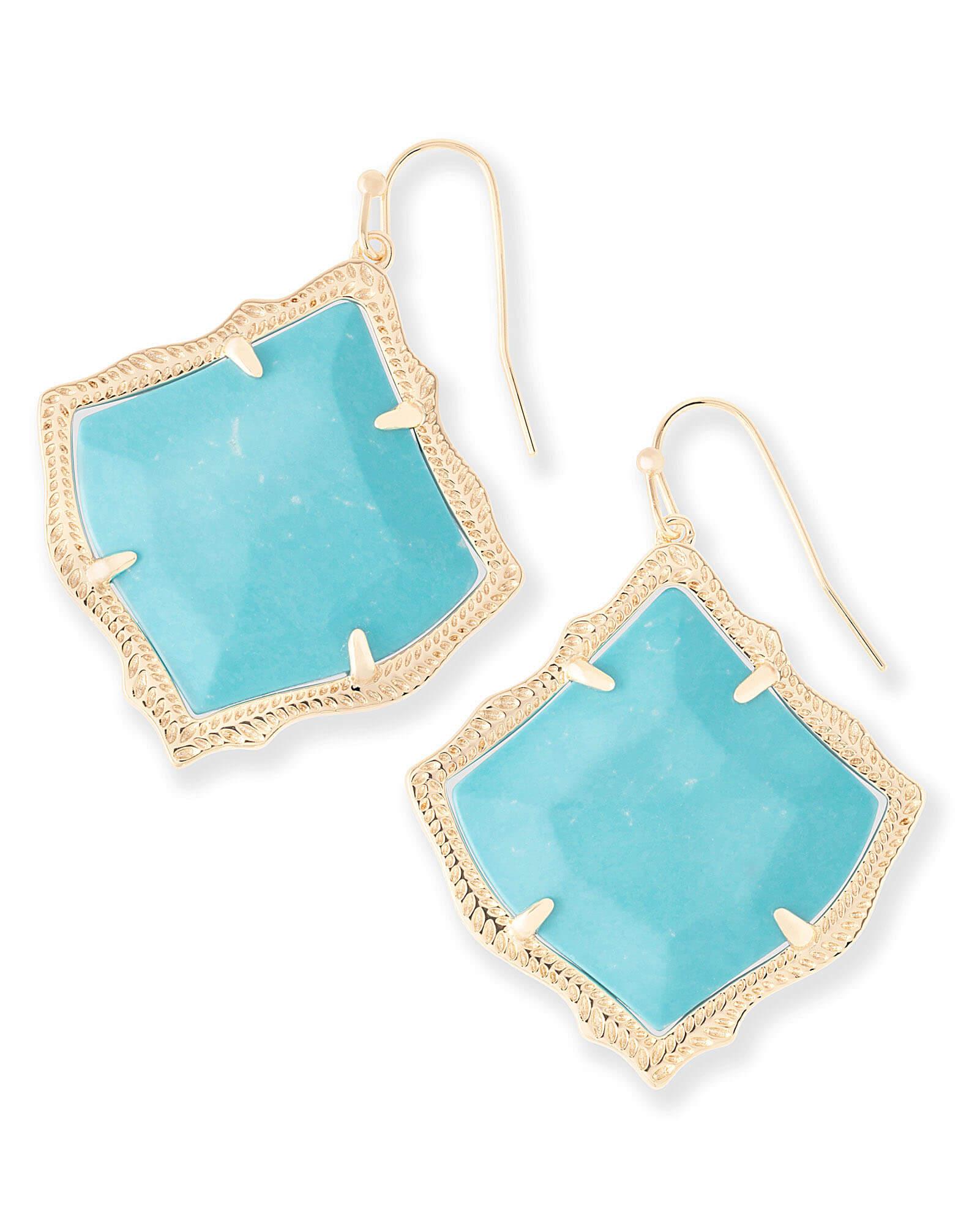 535cc997ff5674 Kirsten Drop Earrings in Turquoise | Kendra Scott Jewelry