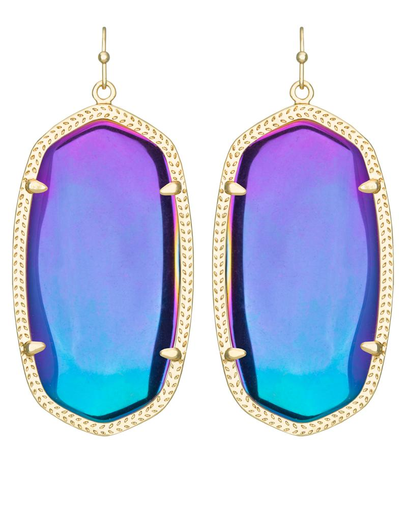 Danielle Earrings In Black Iridescent