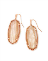 Faceted Elle Rose Gold Drop Earrings in Gold Dusted Pink Illusion