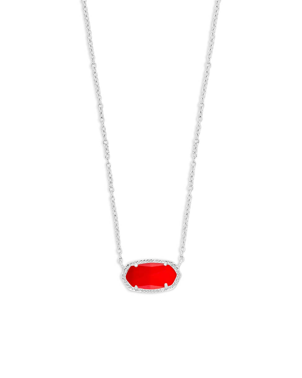9f1dc538ba670 Elisa Silver Pendant Necklace in Bright Red | Kendra Scott