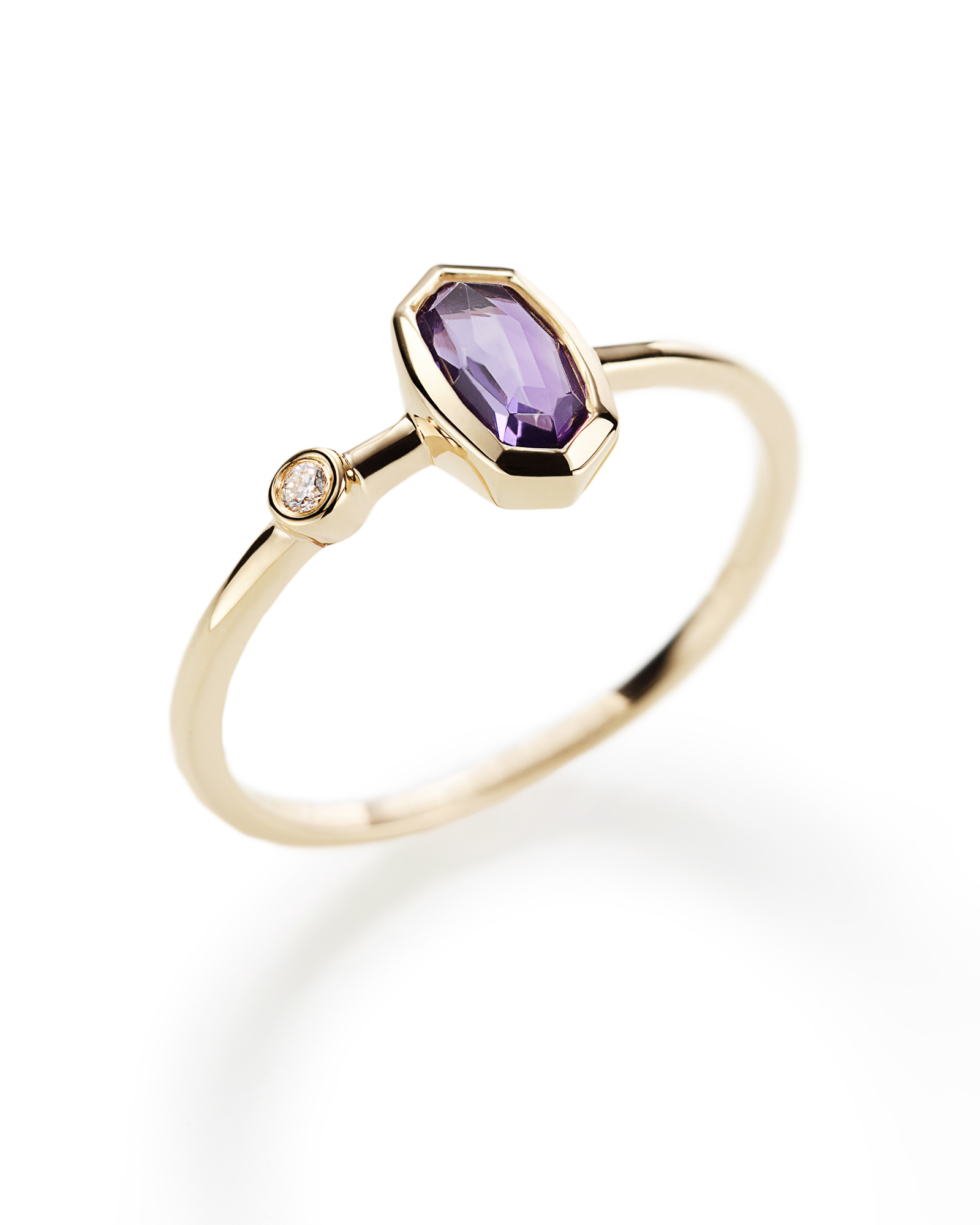 Chastain Ring in Amethyst and 14k Yellow Gold - 7
