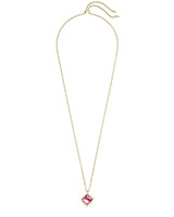 Kacey Gold Long Pendant Necklace in Berry Illusion