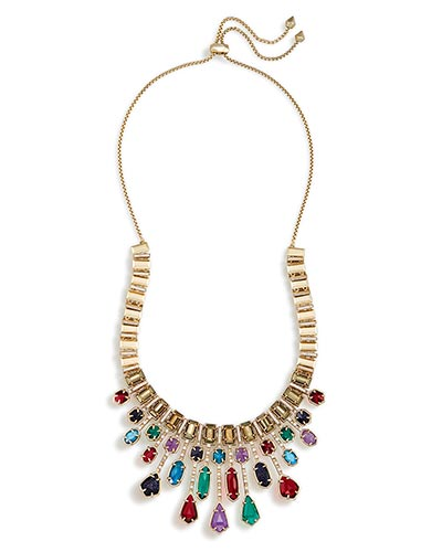 Bette Statement Necklace in Brass