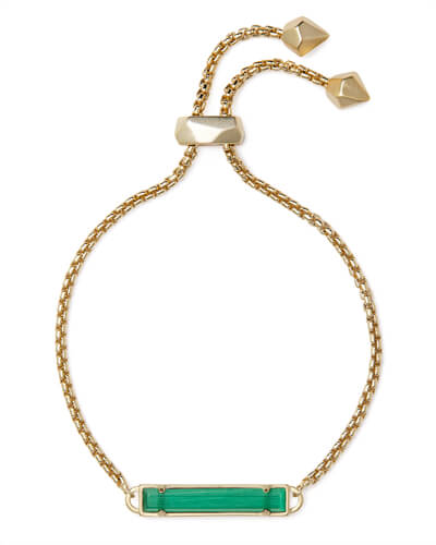Stan Gold Chain Bracelet In Emerald Cats Eye