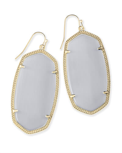 Danielle Gold Earrings in Slate