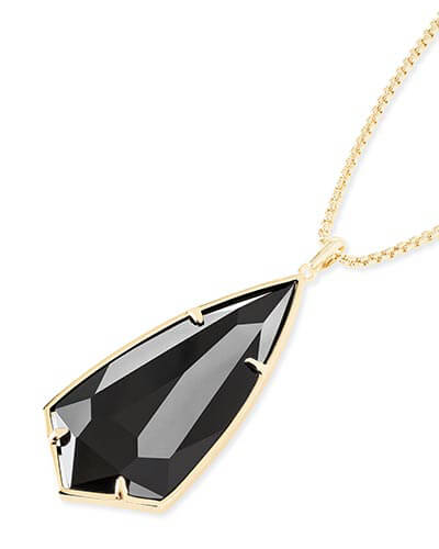 Carole Long Pendant Necklace in Black