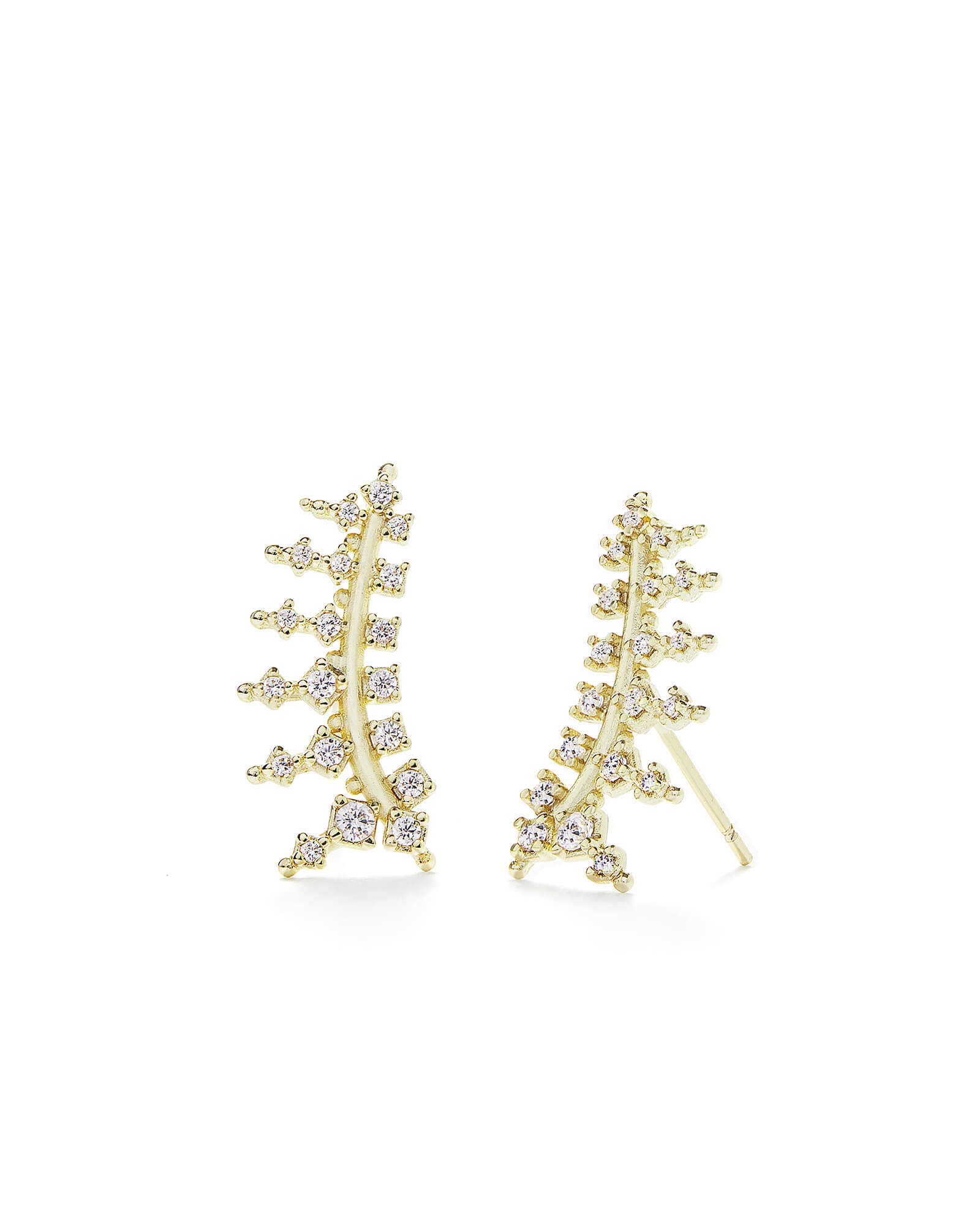 Laurie Ear Climbers In Gold by Kendra Scott