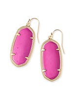 Elle Earrings in Magenta
