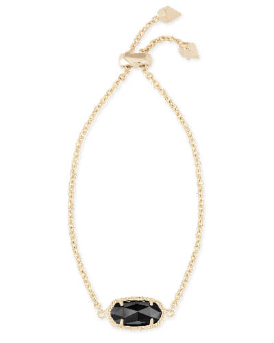 Elaina Adjustable Chain Bracelet in Black