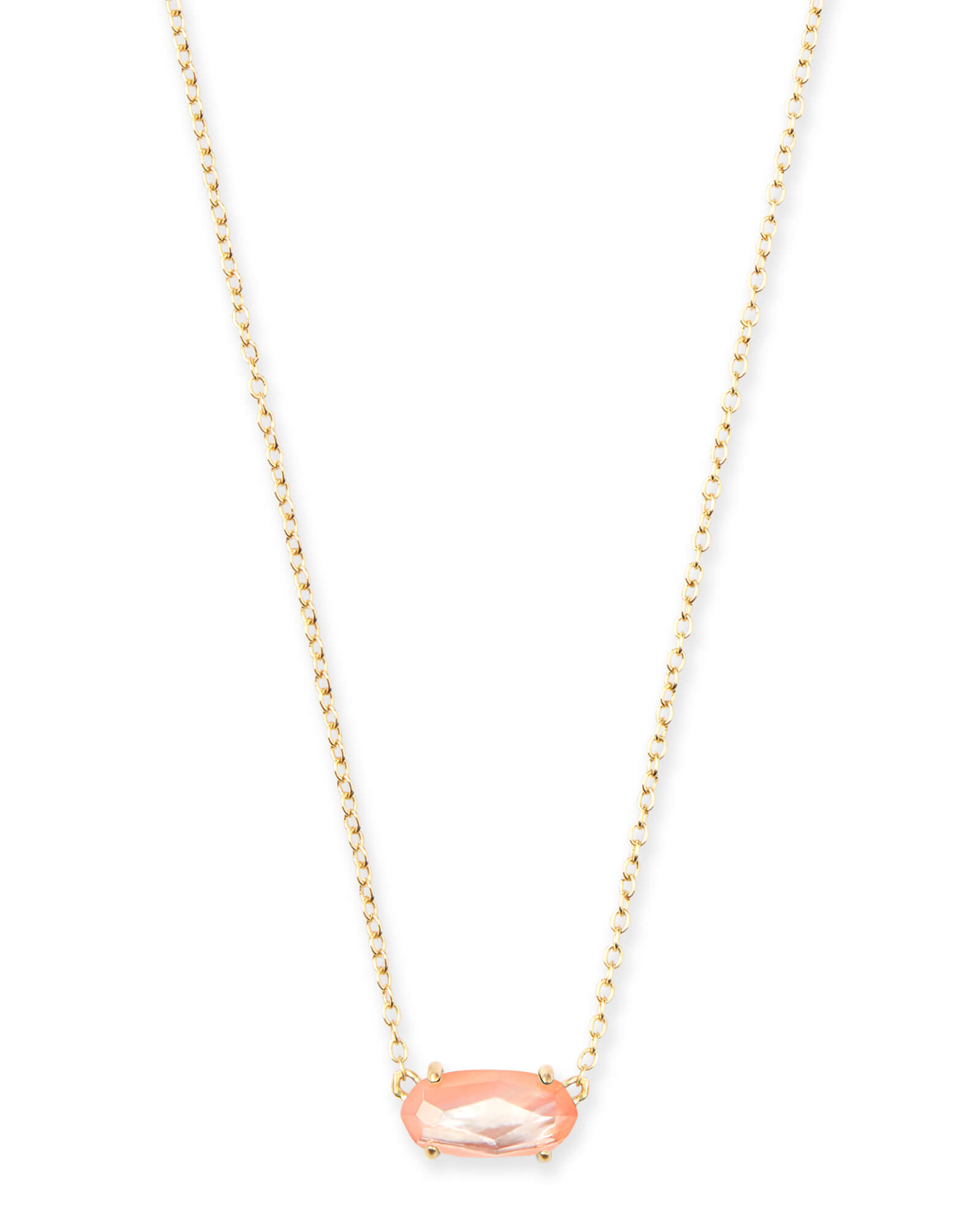 01f865ee589778 Ever Gold Pendant Necklace in Peach Pearl | Kendra Scott