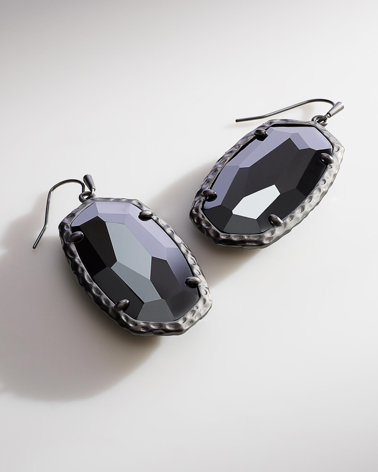 Ella Drop Earrings in Hematite