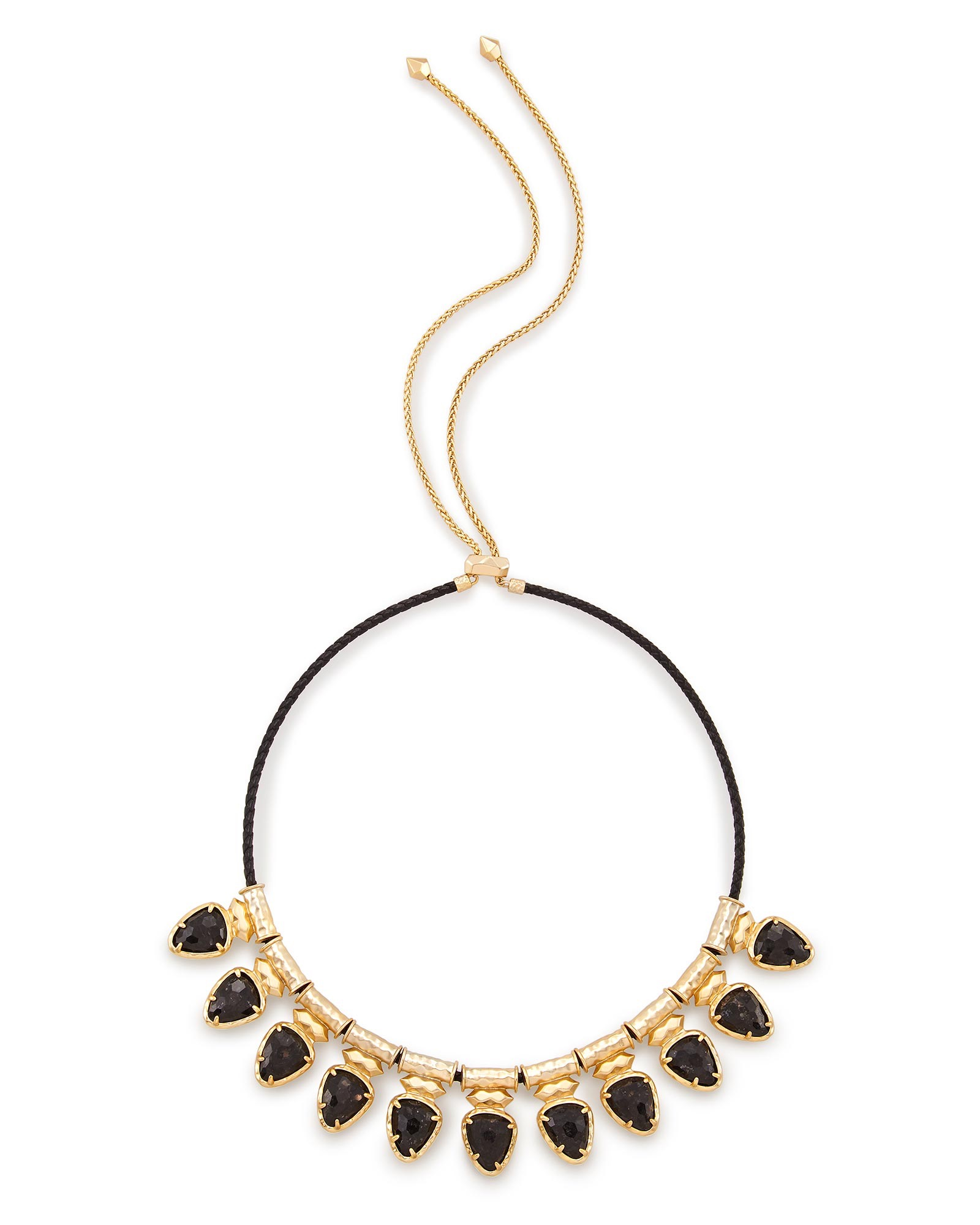 Willow Choker Necklace in Black Granite