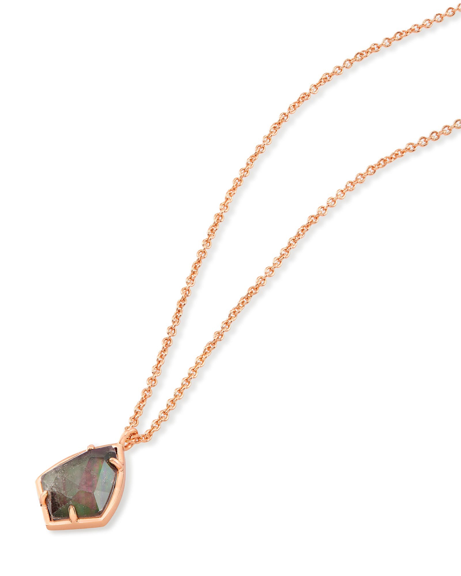 Cory Pendant Necklace in Crystal Gray Illusion