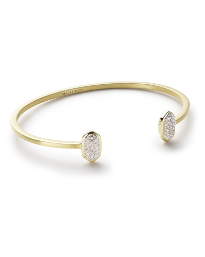 Elias Cuff Bracelet in Pave Diamond and 14k Yellow Gold