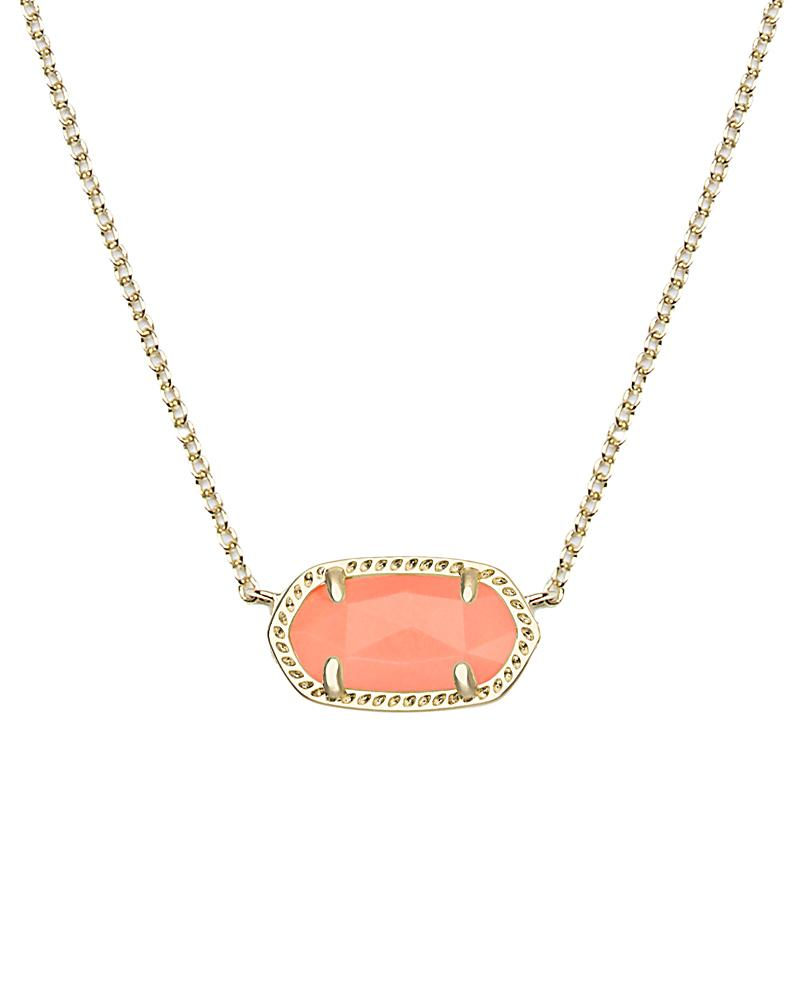 Elisa Pendant Necklace in Coral