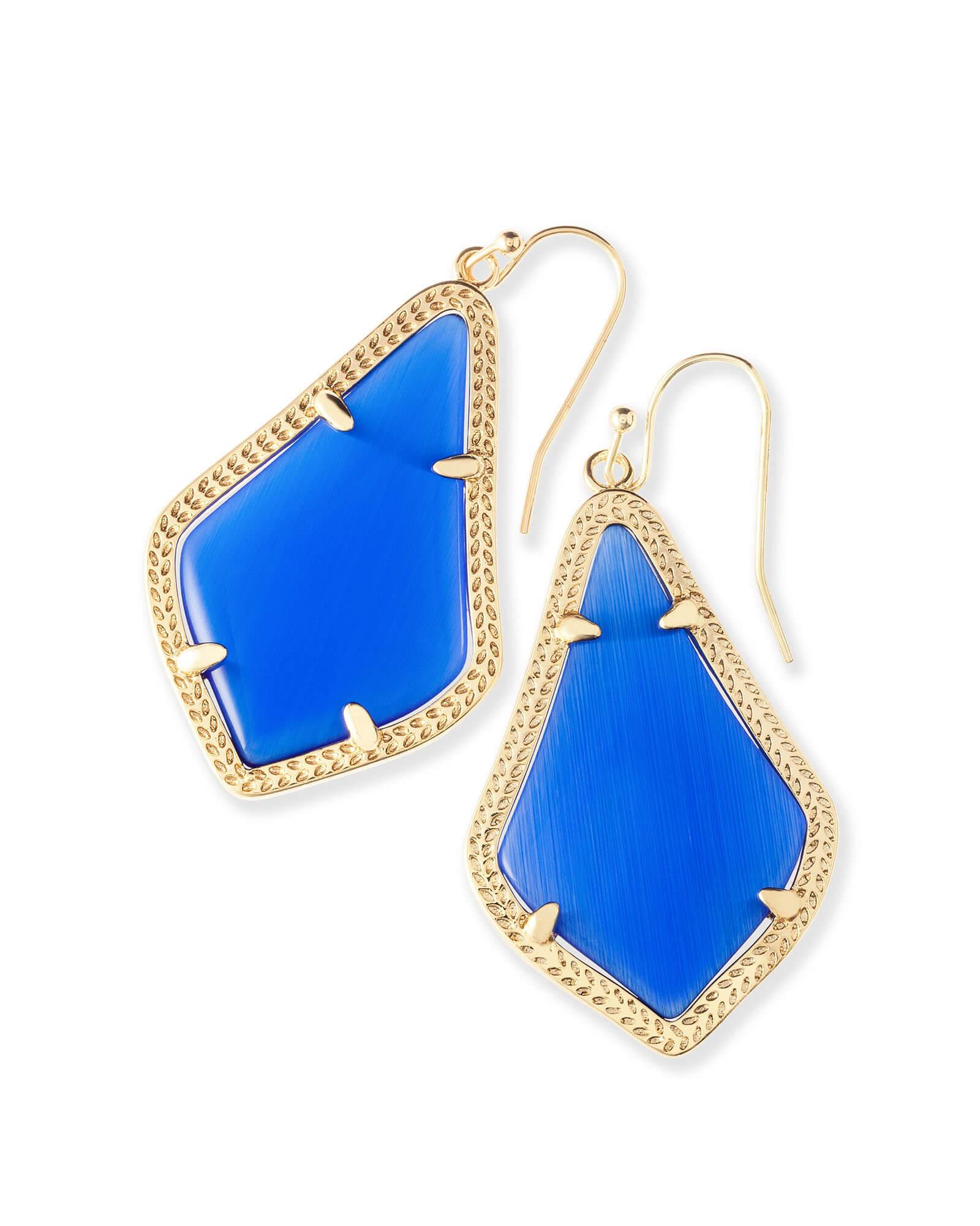 Alex Earrings In Cobalt