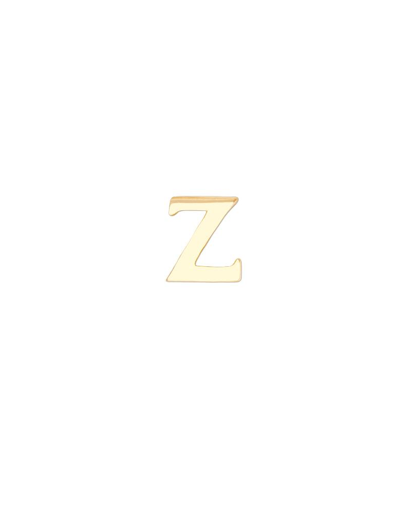 Greek Letter Zeta Charm - Gold