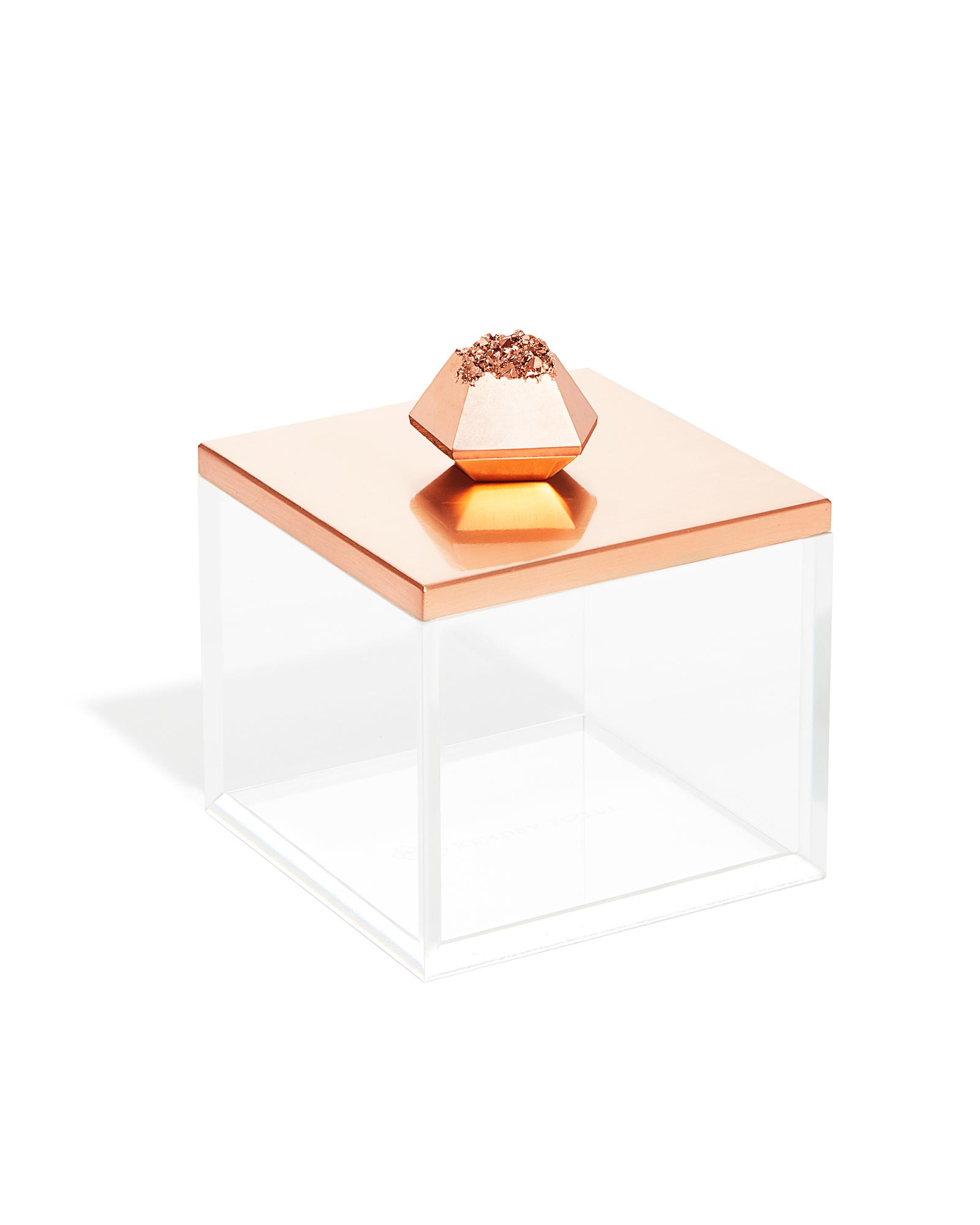 Square Acrylic Box in Rose Gold Drusy