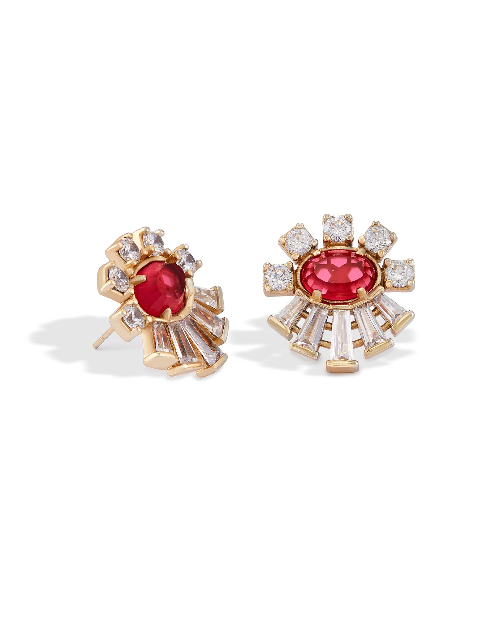 Atticus Stud Earrings in Berry Glass