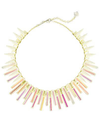 Kaplan Gold Statement Necklace in Dichroic Glass from Kendra Scott Product Image