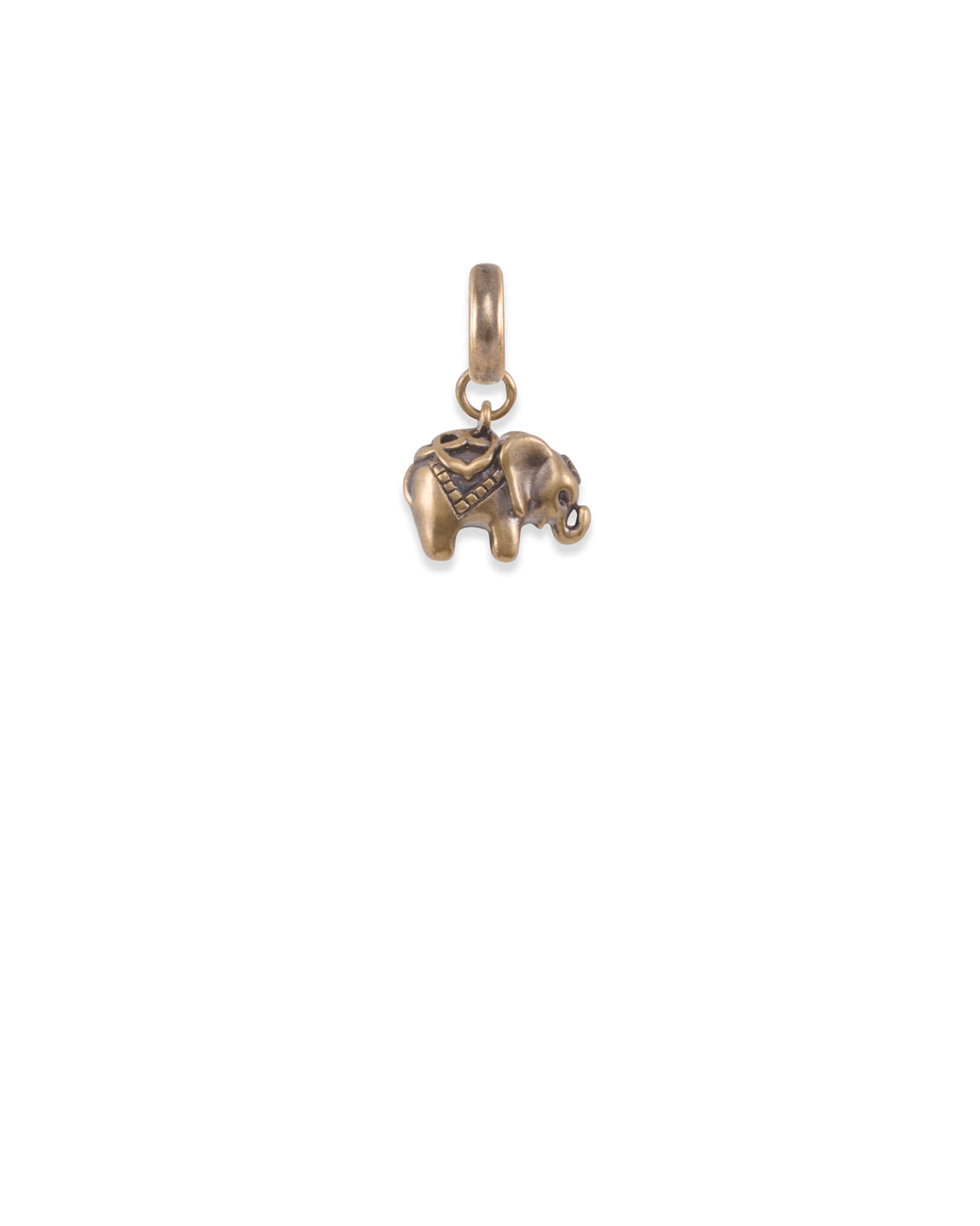 Elephant Charm in Vintage Gold
