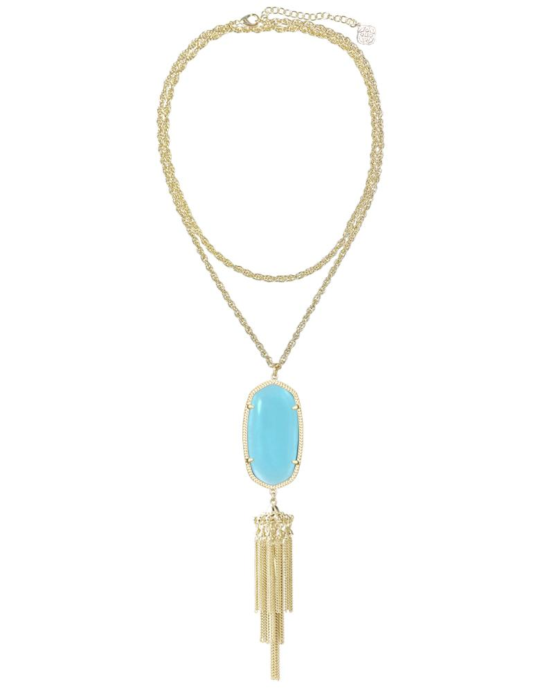 Rayne Necklace in Clear London Blue