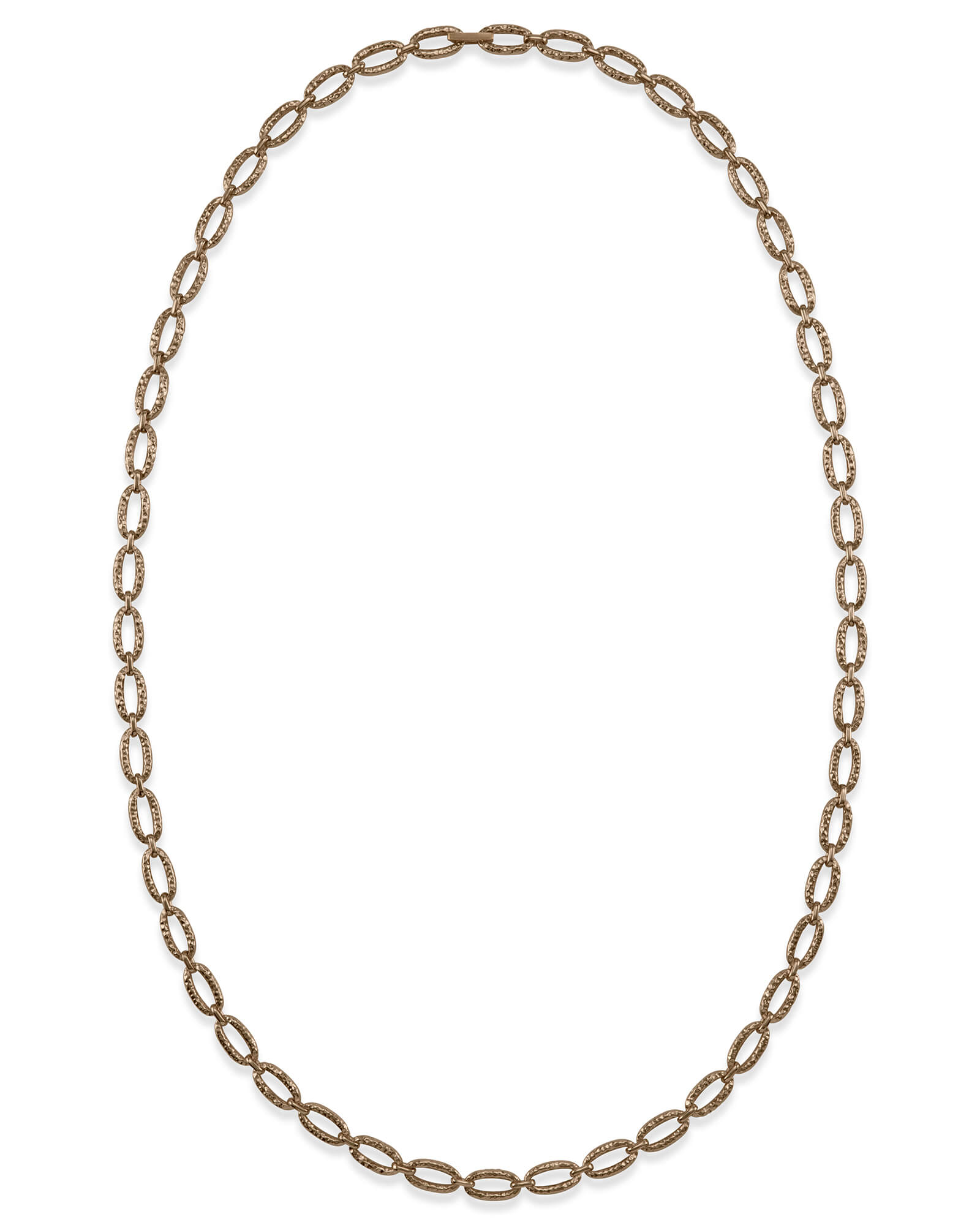 "32"" Chain Link Necklace in Vintage Gold"