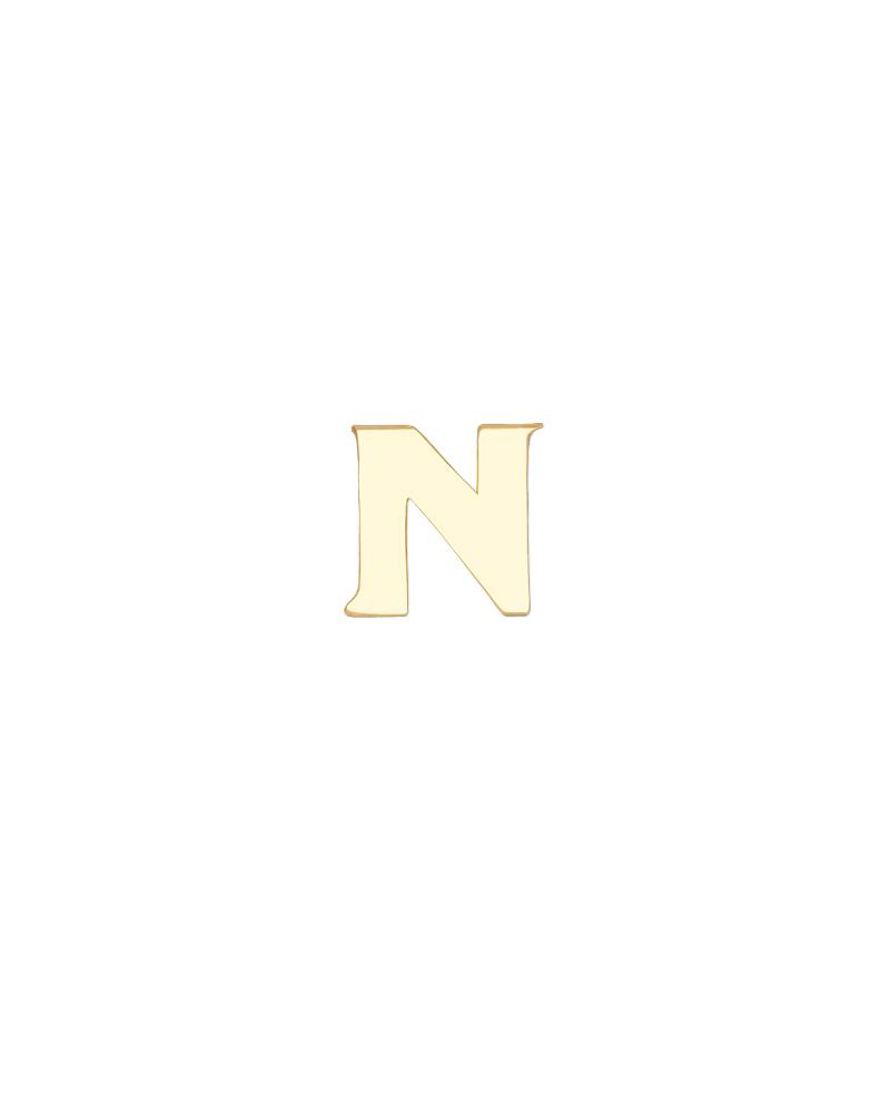 Greek Letter Nu Charm - Gold