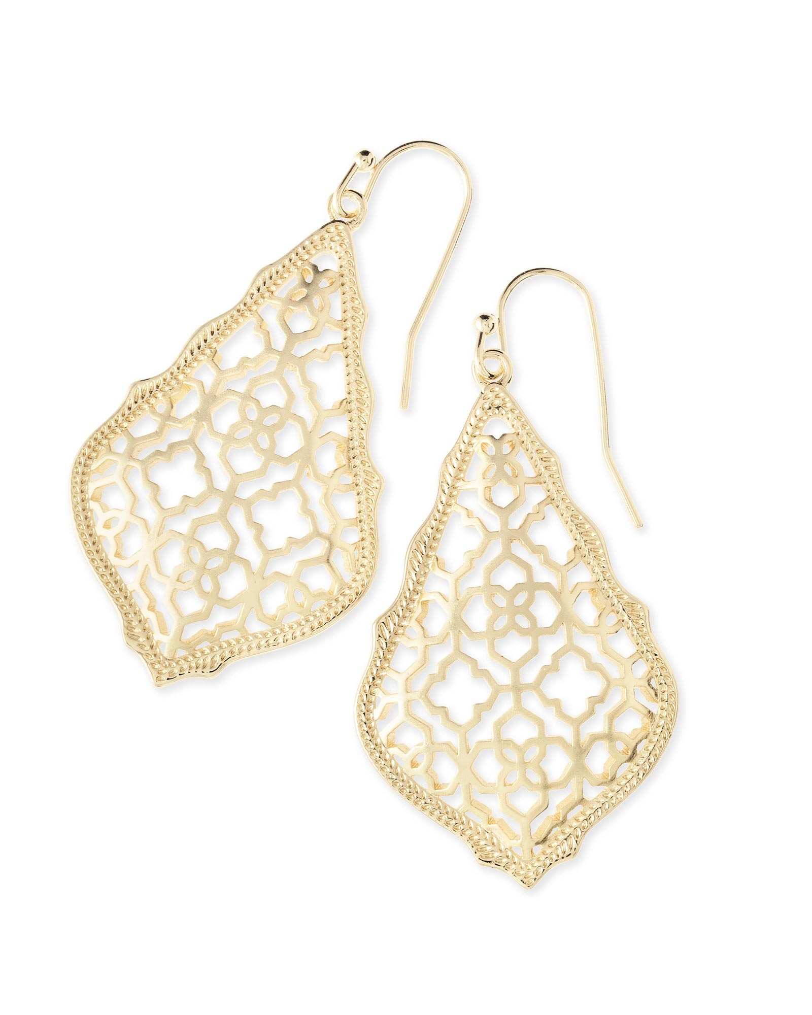 Ad Gold Drop Earrings In Filigree Mix