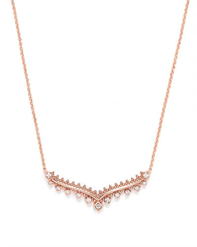 Vern Pendant Necklace in Rose Gold
