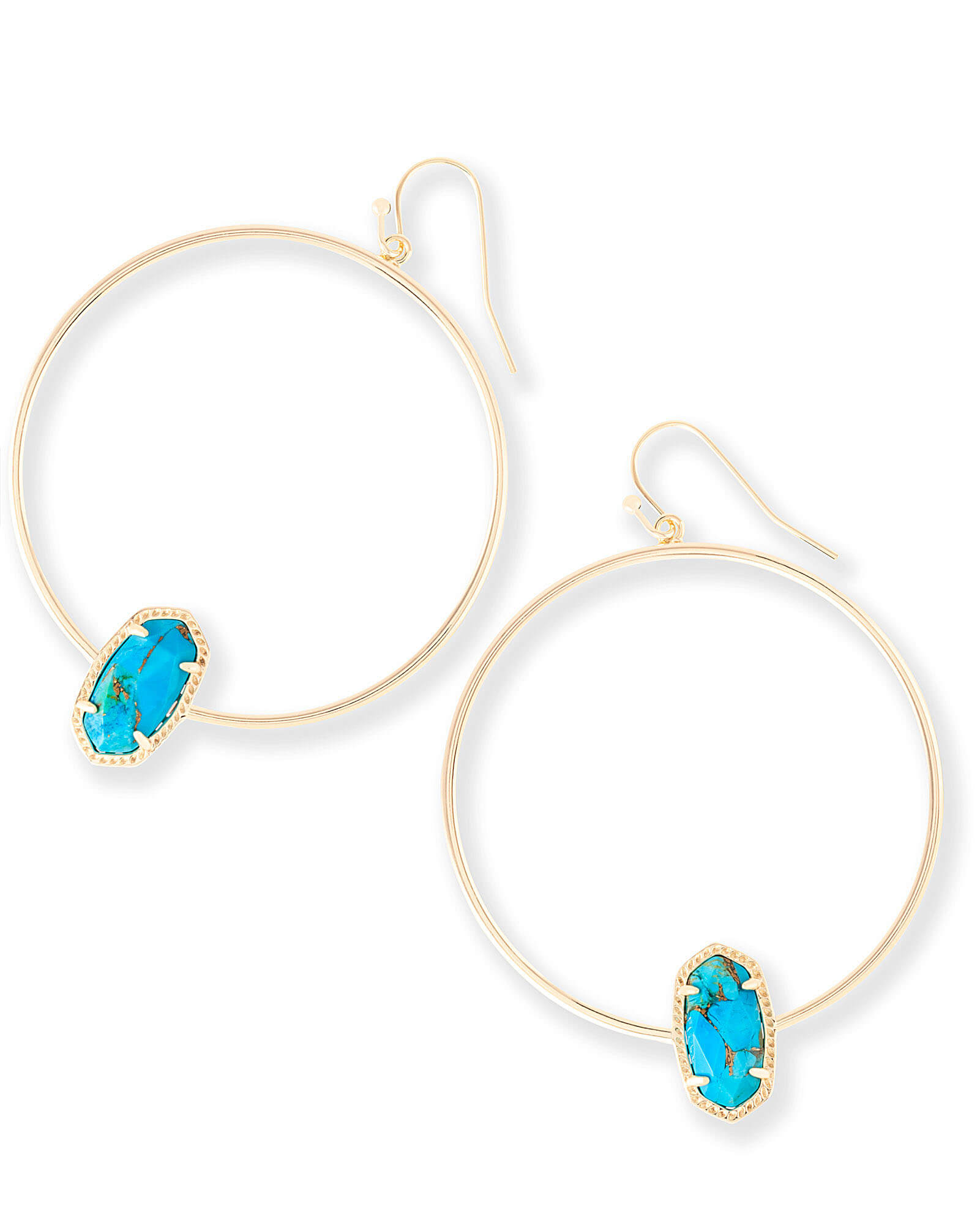 Elora Hoop Earrings in Bronze Veined Turquoise