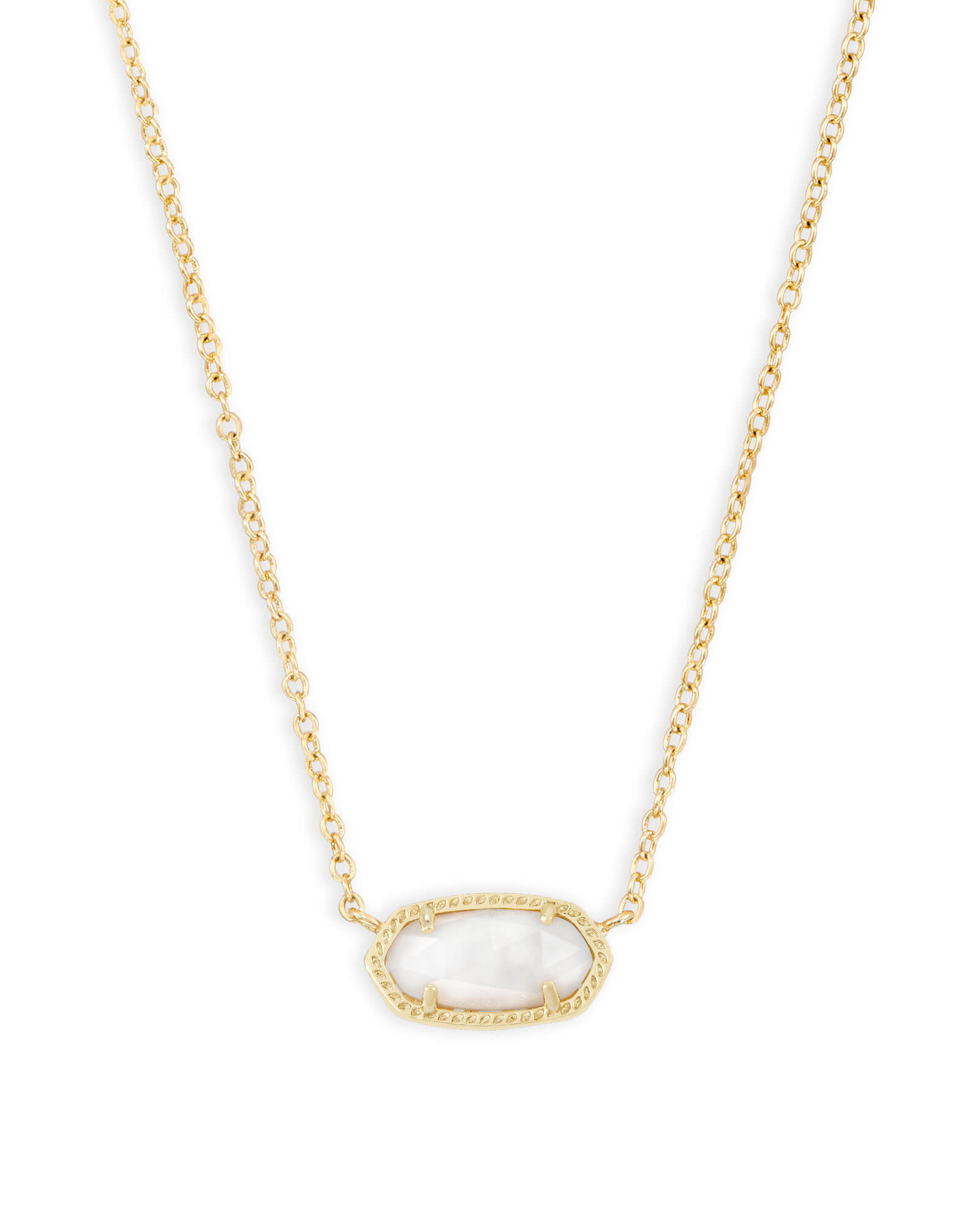 f86dbae25 Elisa Gold Pendant Necklace in White Pearl