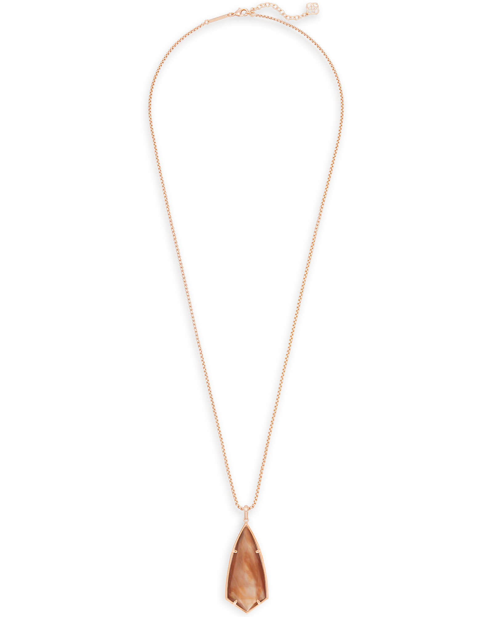 Carole Long Pendant Necklace in Brown Pearl