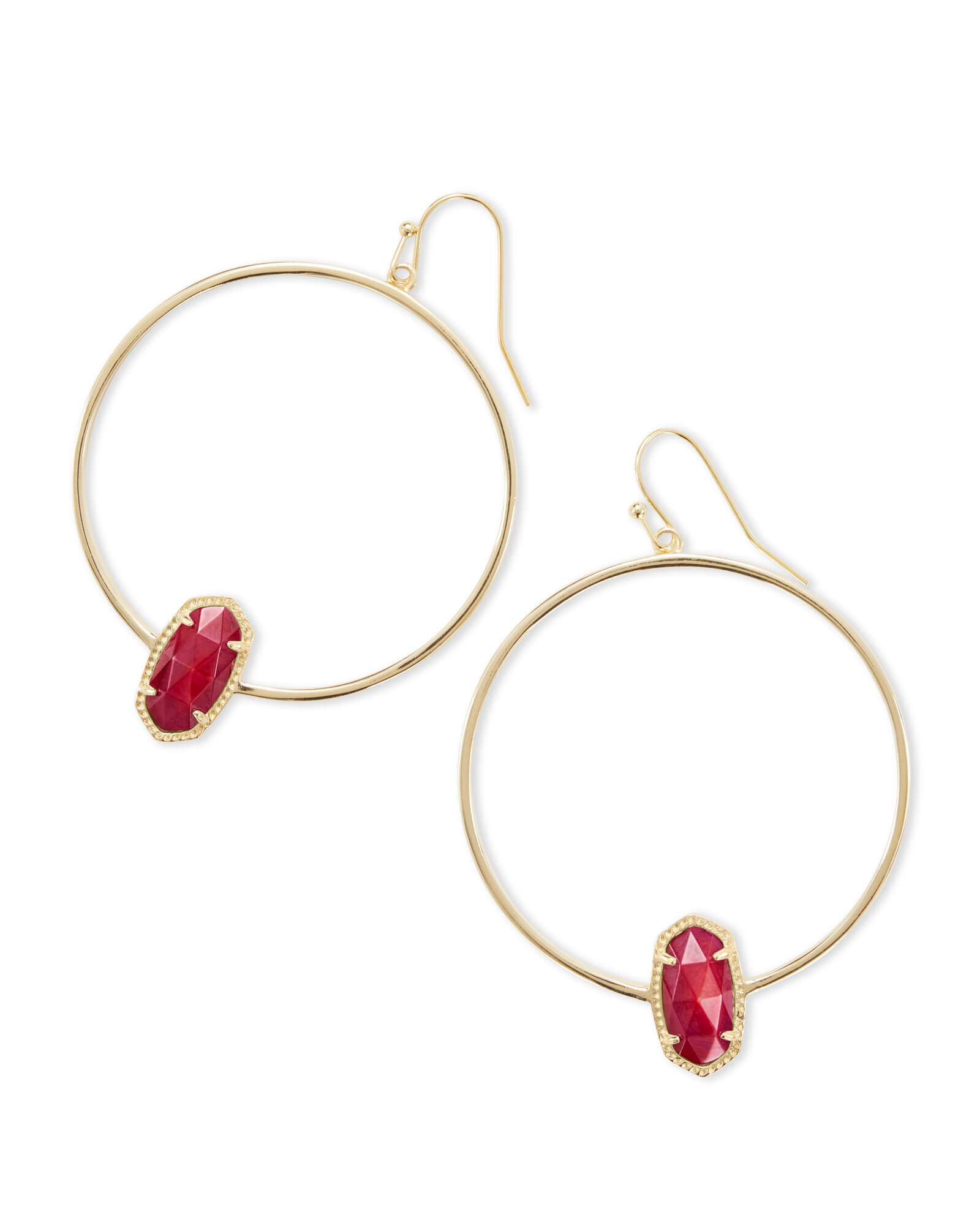 gold apparel accessories earrings red studded plated panash products stone jewels jhumka jewellery